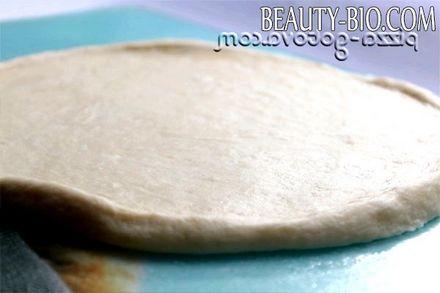 Фото - тісто для піци на кефірі без дріжджів