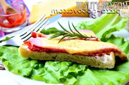 Фото - гарячі бутерброди на швидку руку в духовці фото