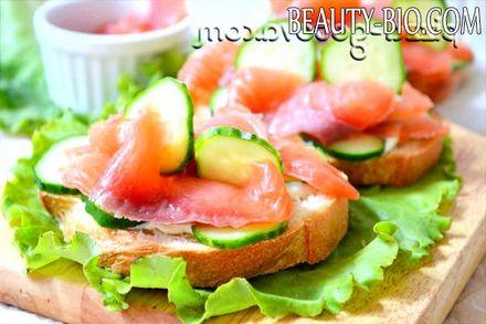 Фото - бутерброди з червоною рибою фото