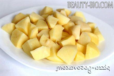 Фото - нарізка картоплі