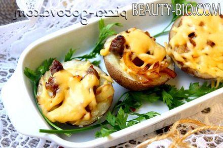 Фото - фарширований картоплю в духовці