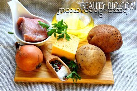 Фото - інгредієнти для запеченої картоплі