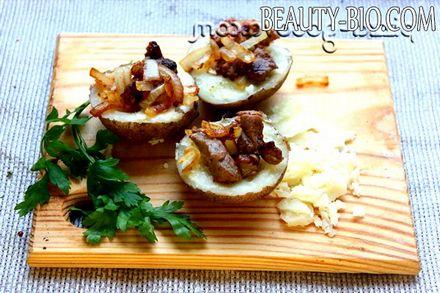 Фото - фаршируємо картопля м'ясом та цибулею