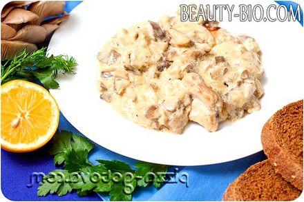 Фото - фрикасе з курки з грибами рецепт з фото