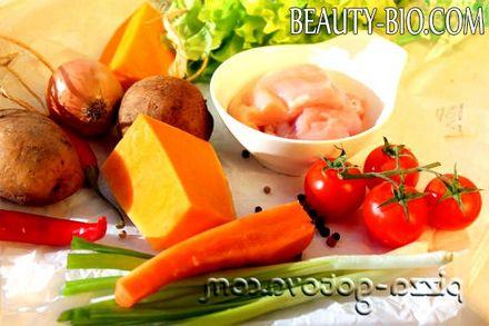 Фото - інгредієнти для гарбузового супу