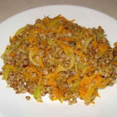 Фото - гречка з овочами