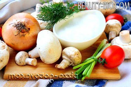 Фото - інгредієнти для варіння грибів
