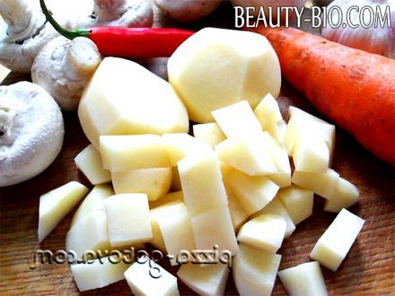 Фото - режим картоплю на кубики