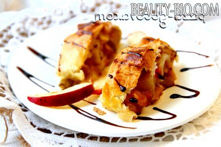 Фото - штрудель з листкового тіста з яблуками