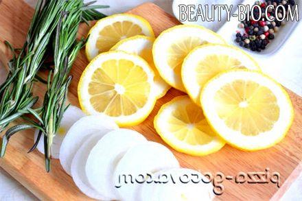 Фото - нарізаємо цибулю і лимон