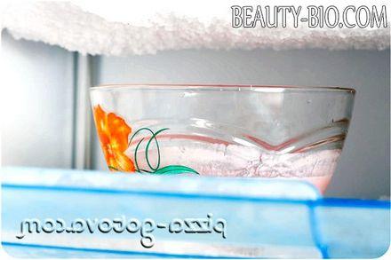 Фото - морозиво ставимо в морозильник