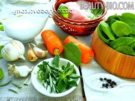 Фото - інгредієнти для супу