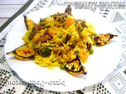 Фото - Паелья з морепродуктами рецепт з фото