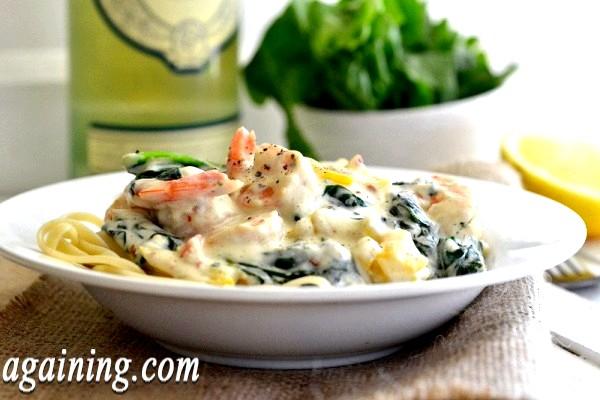 Фото - shrimp-pasta-with-cream-sauce