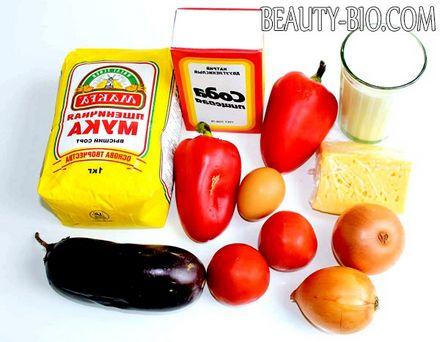 Фото - інгредієнти для піци з овочами
