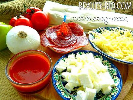 Фото - Інгредієнти для піци на листковому тісті