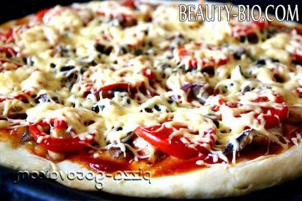 Фото - Піца з куркою і грибами, фото