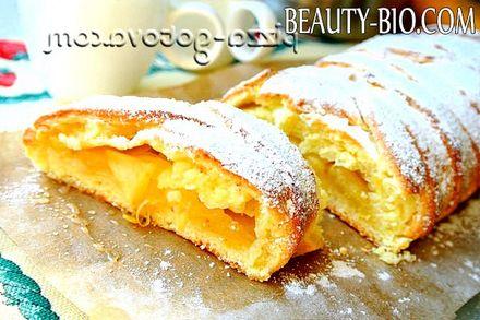 Фото - Сирний пиріг з яблуками рецепт