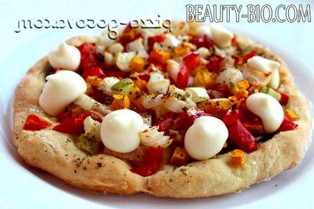 Фото - Пісна піца на тесті без дріжджів