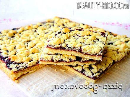 Фото - тертий пиріг з варенням фото