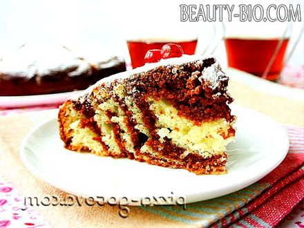 Фото - пиріг Зебра рецепт з фото