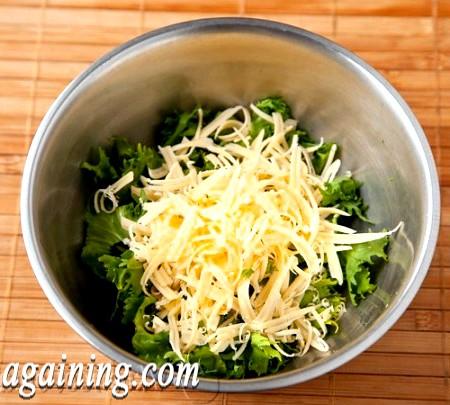 Фото - листя салат і сир