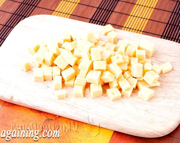Фото - сир ріжемо кубиками