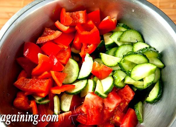 Фото - помідори+огірки+солодкий перець
