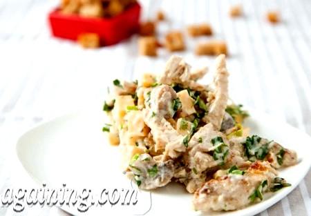Фото - салат з грибами і куркою