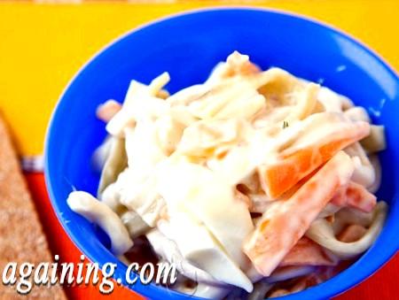 Фото - салат з кальмарами рецепт Сфота