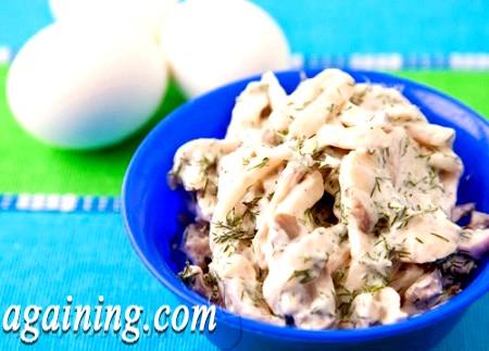Фото - салат з кальмарами рецепт з фото