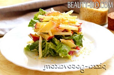 Фото - рецепт салату з селери з яблуком
