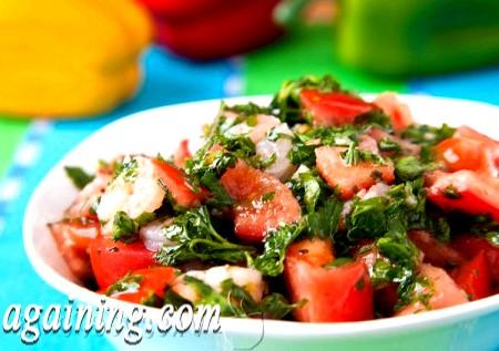 Фото - салат з креветками оливковий