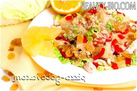 Фото - салат з куркою і ананасами рецепт з фото