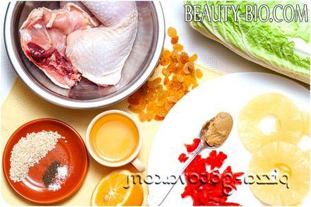 Фото - інгредієнти для салату з куркою