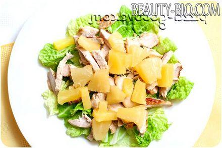 Фото - додаємо ананас до салату