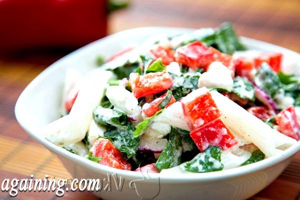 Фото - салат з руколою і рисовими макаронами № 2