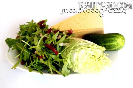 Фото - інгредієнти для салату з руколою
