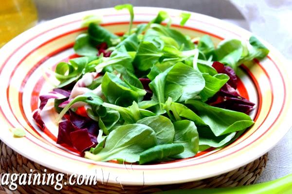 Фото - готуємо листя салату маш
