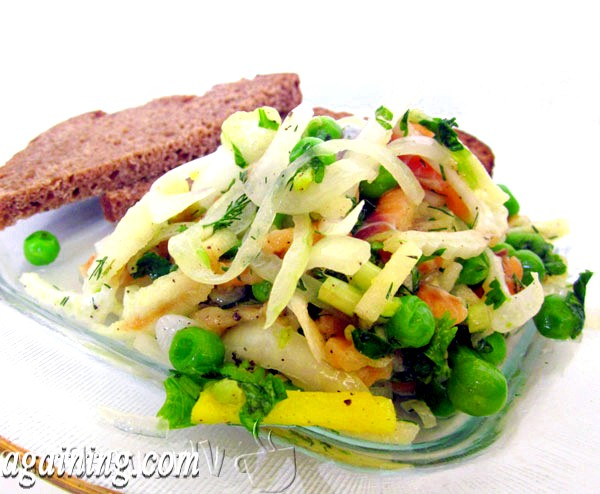 Фото - салат з лососем слабосоленим