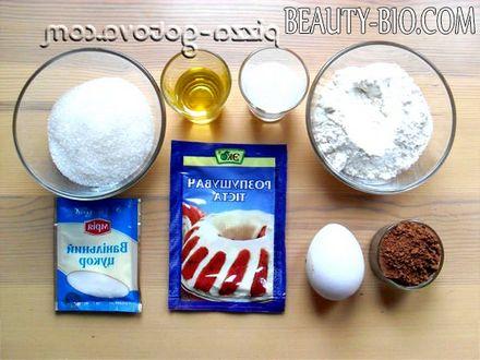 Фото - інгредієнти для шоколадного кексу