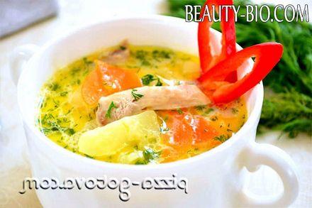Фото - сирний суп з куркою рецепт фото