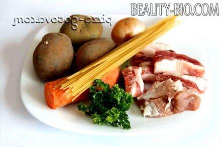 Фото - Інгредієнти для супу з свинячих реберець