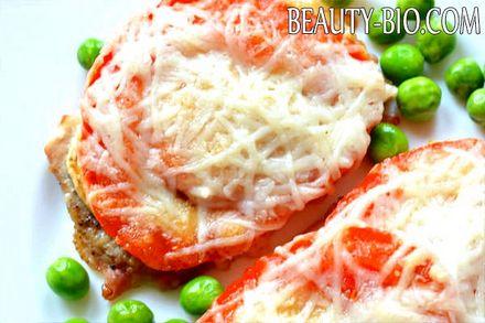 Фото - svinina s gribami i pomidorami