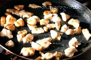 Фото - підсмажуємо м'ясо на сковороді