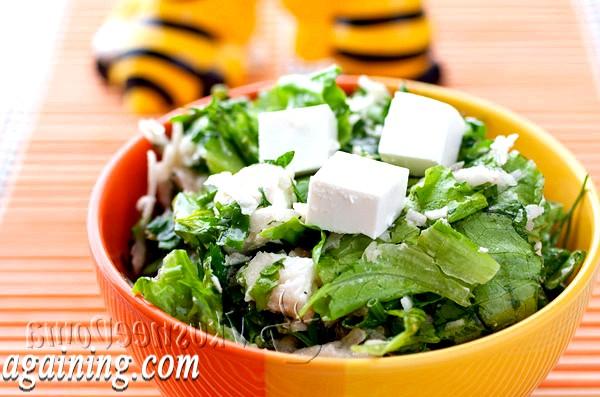 Фото - зелений салат з топінамбуром