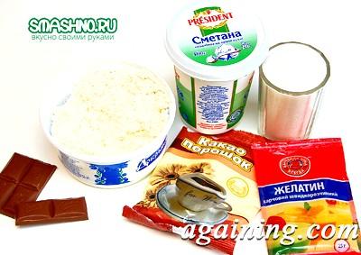 Фото: Необхідні для сирного десерту продукти
