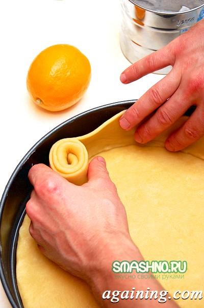 Фото: Роблю бортик пісочного пирога