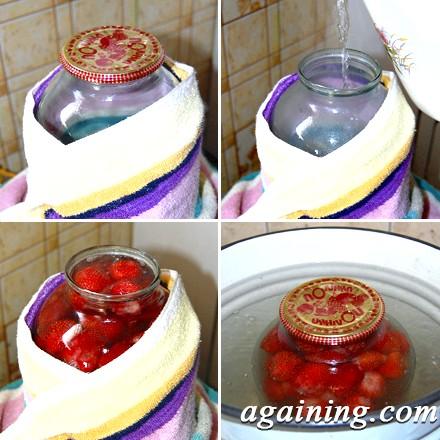 Фото: Процес приготування полуничного компоту
