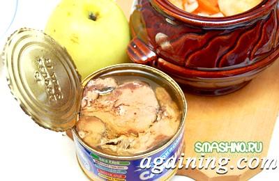 Фото: Поверх овочів & ndash; шматочки риби, потім & ndash; інші овочі